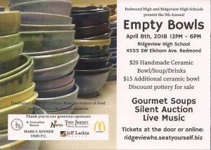 5th Annual Empty Bowls @ Ridgeview High School Commons | Redmond | Oregon | United States